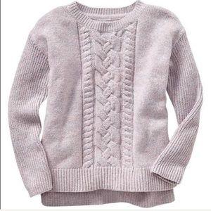 Gap Girls Purple Cable Knit Sweater